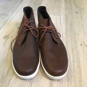 Ben Sherman BRN Leather/Suede Chukka Boots SZ 9